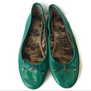 Sam Edelman Felicia Green Leather Flats